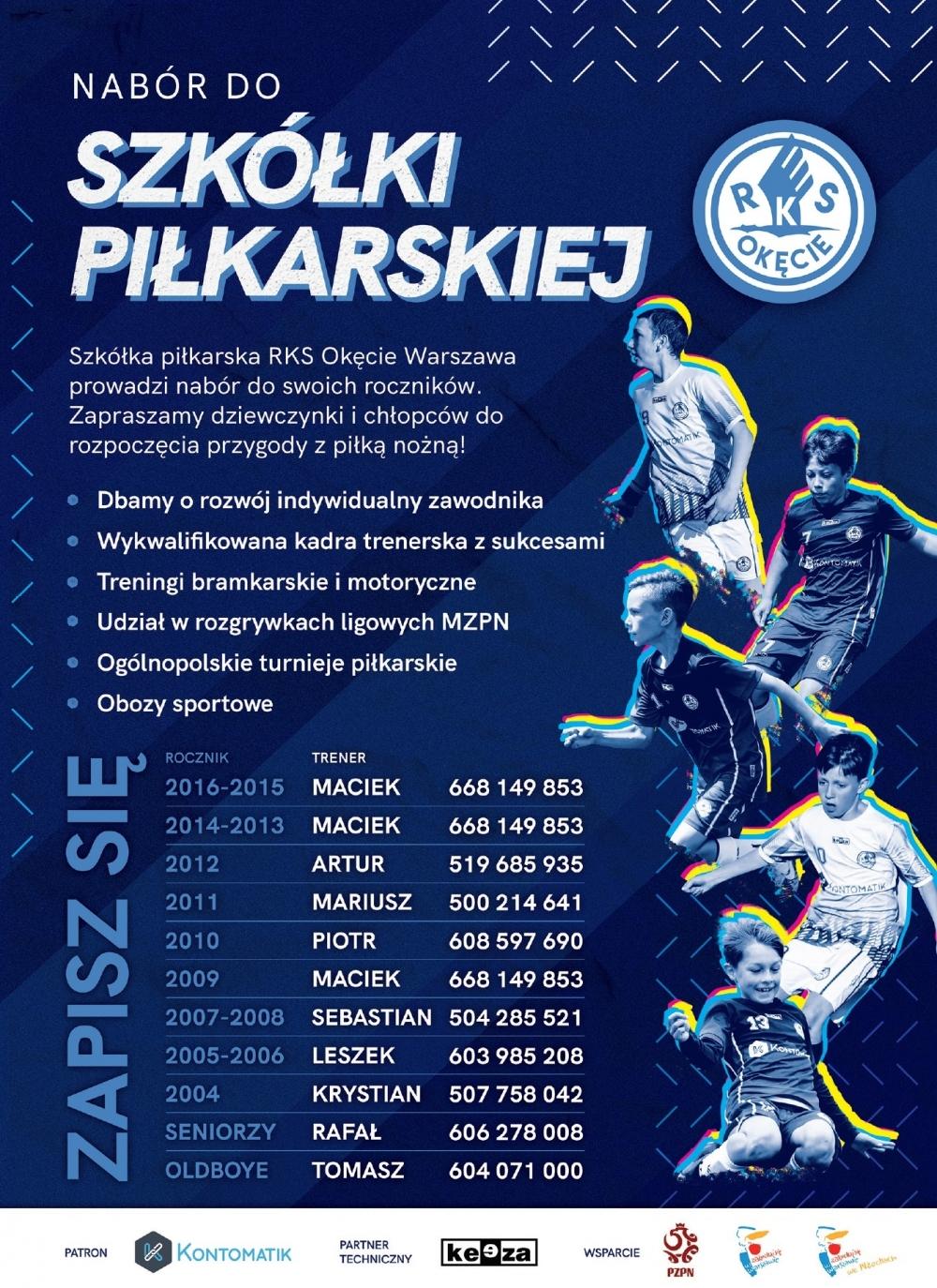 Nabór dzieci do sekcji piłki nożnej - RKS Okęcie Warszawa