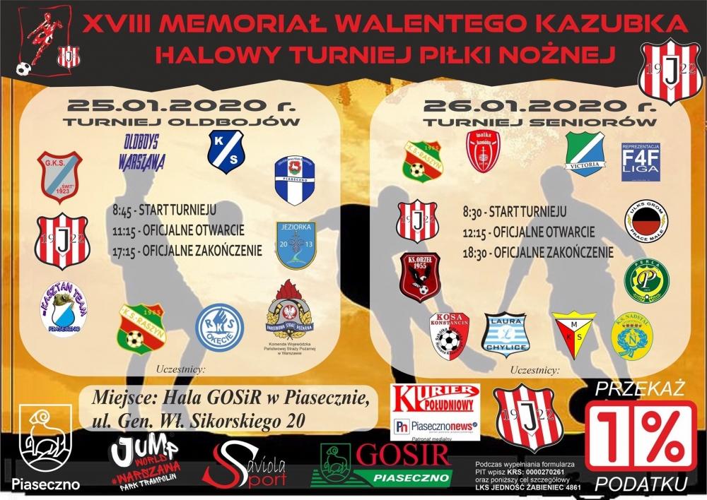 XVIII Memoriał Walentego Kazubka - turniej halowy - RKS Okęcie Warszawa