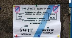 GKS Świt Warszawa - RKS OKĘCIE Warszawa 1:2